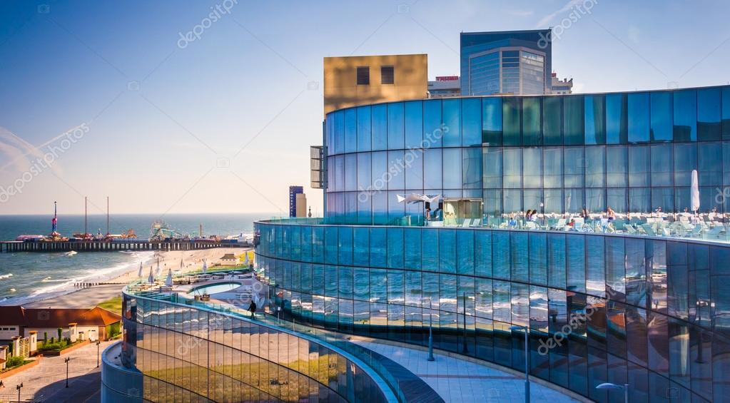 View From A Balcony At Revel Hotel In Atlantic City New Stock Photo