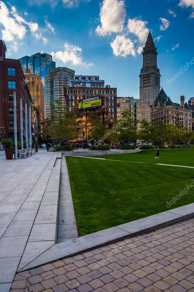 The Rose Fitzgerald Kennedy Greenway And Custom House Tower In B
