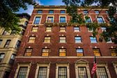 Elegant brick building in Upper East Side, Manhattan, New York.