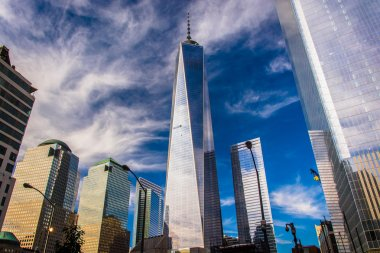 One World Trade Center and other skyscrapers in Lower Manhattan,