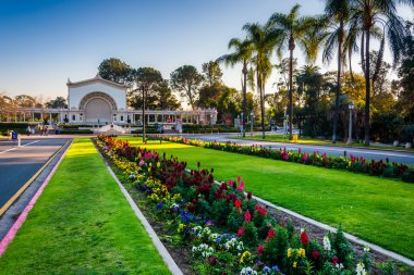 Gardens and Spreckels Organ Pavillion, in Balboa Park, San Diego