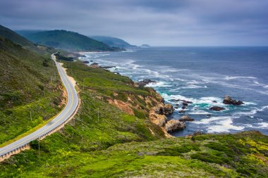 View of Pacific Coast Highway, at Garrapata State Park, Californ