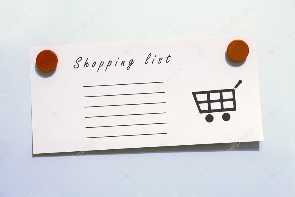 Kühlschrank Einkaufsliste Magnet : Einkaufsliste mit magneten u2014 stockfoto © sergiogarsia #95186338