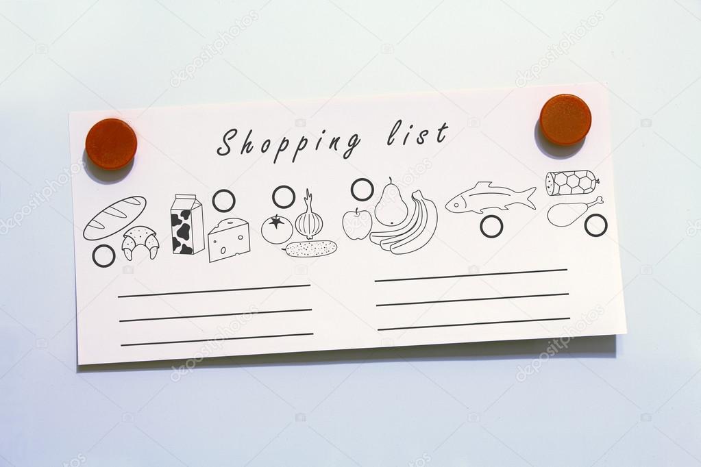 Kühlschrank Einkaufsliste Magnet : Essen einkaufsliste mit magneten u2014 stockfoto © sergiogarsia #95186346