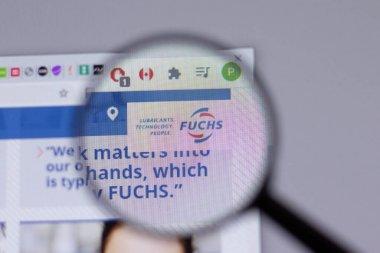 New York, USA - 18 March 2021: Fuchs Petrolub company logo icon on website, Illustrative Editorial stock vector