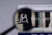 Los Angeles, California, USA - 1. června 2021: Logo nebo ikona Bank of Mexico Banxico na webových stránkách, Illustrative Editorial