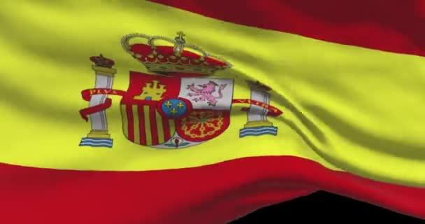 Spanyol nemzeti zászló felvételek. Spanyol integető ország zászló a szél