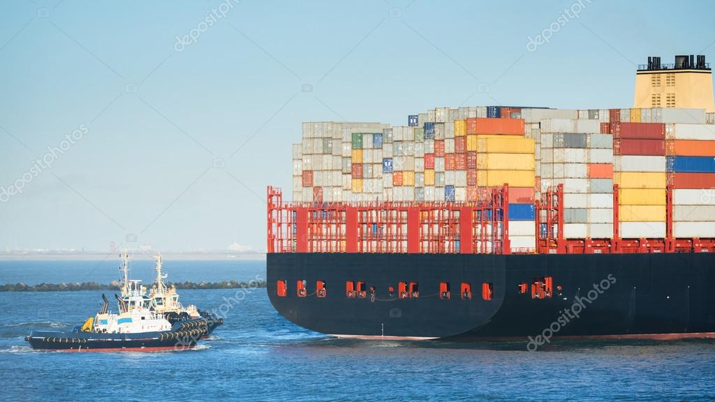 Tug Boat and Large Container Ship