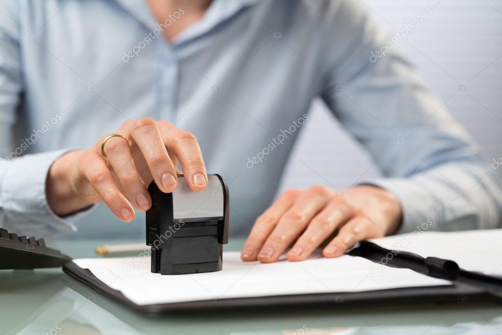 Company Stamp on Documents