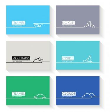 Modern simple vector cards