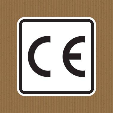 CE Mark Symbol Sign, Vector Illustration, Isolate On White Background Label .EPS10 icon