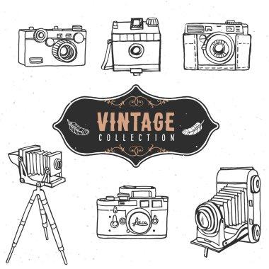 Vintage retro old camera collection