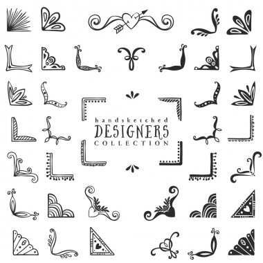 Vintage decorative corners collection