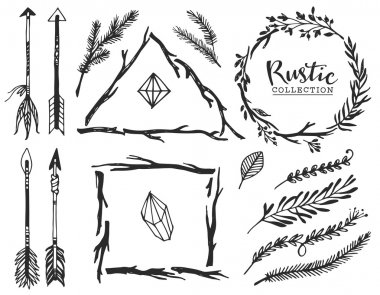 Rustic decorative elements with arrows