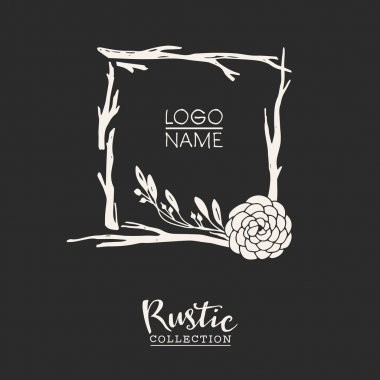 Rustic premade typographic logo template