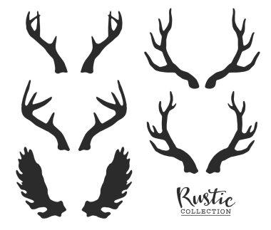 Hand drawn vintage antlers