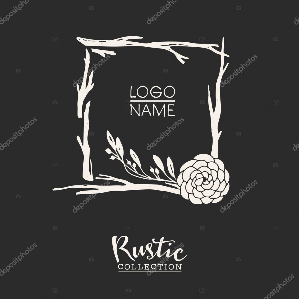 Rustic premade typographic logo template