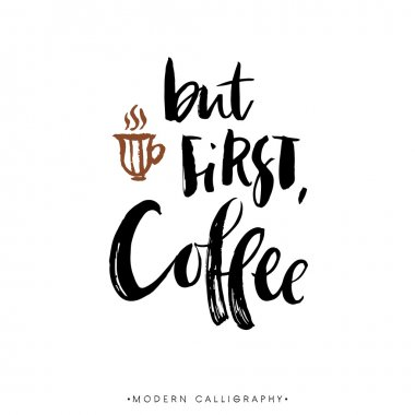 But first, coffee calligraphy.