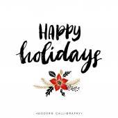 Happy Holidays. Christmas calligraphy.