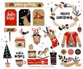 Vánoční ručně tažené prvky návrhu