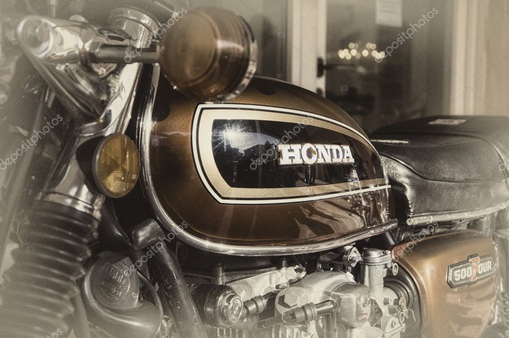 Honda Classic Motorcycle 500 Four Vintage Stock Editorial Photo