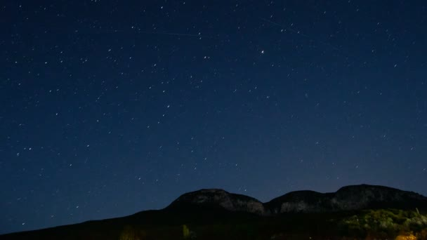 Time lapse of stars and the milk way