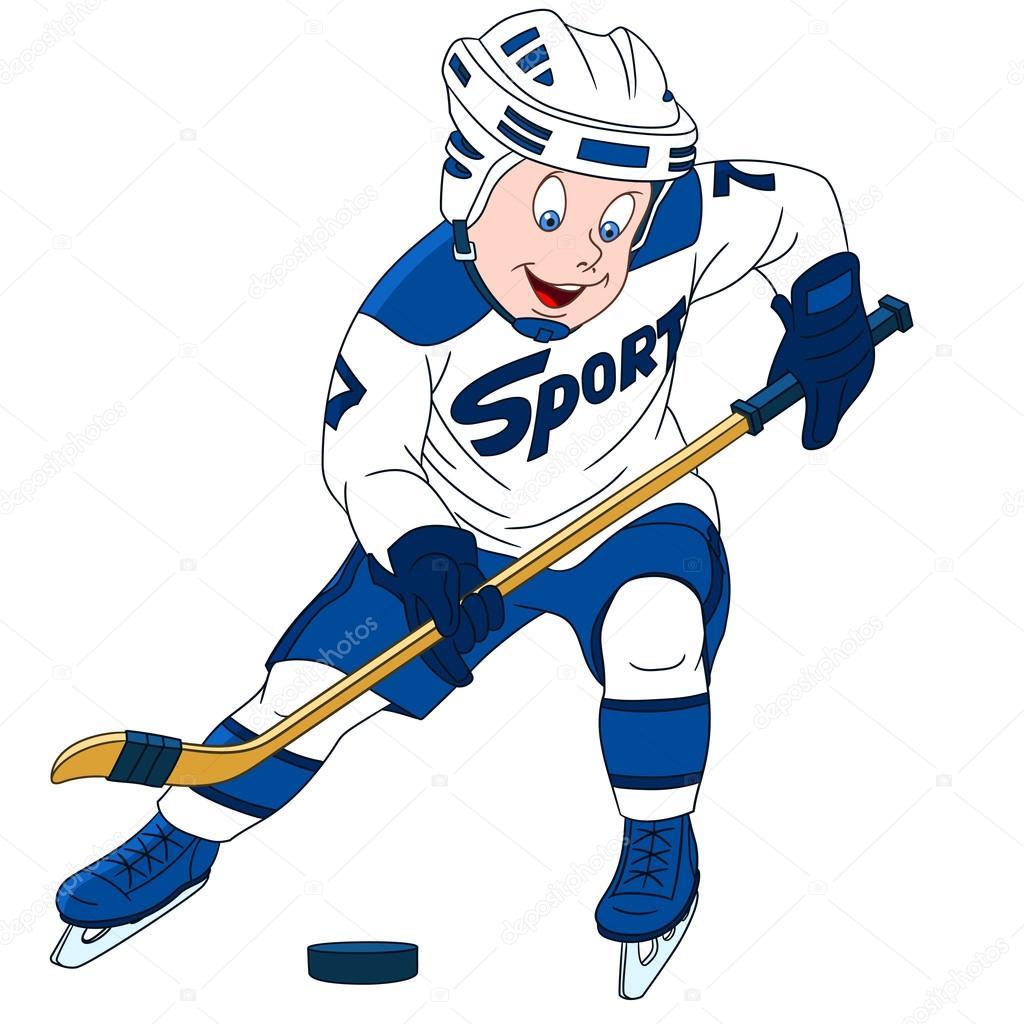 Výsledek obrázku pro hokejista kreslený