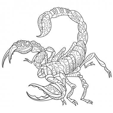 Zentangle stylized scorpio