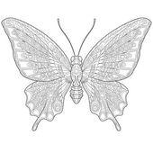 Photo Zentangle stylized butterfly