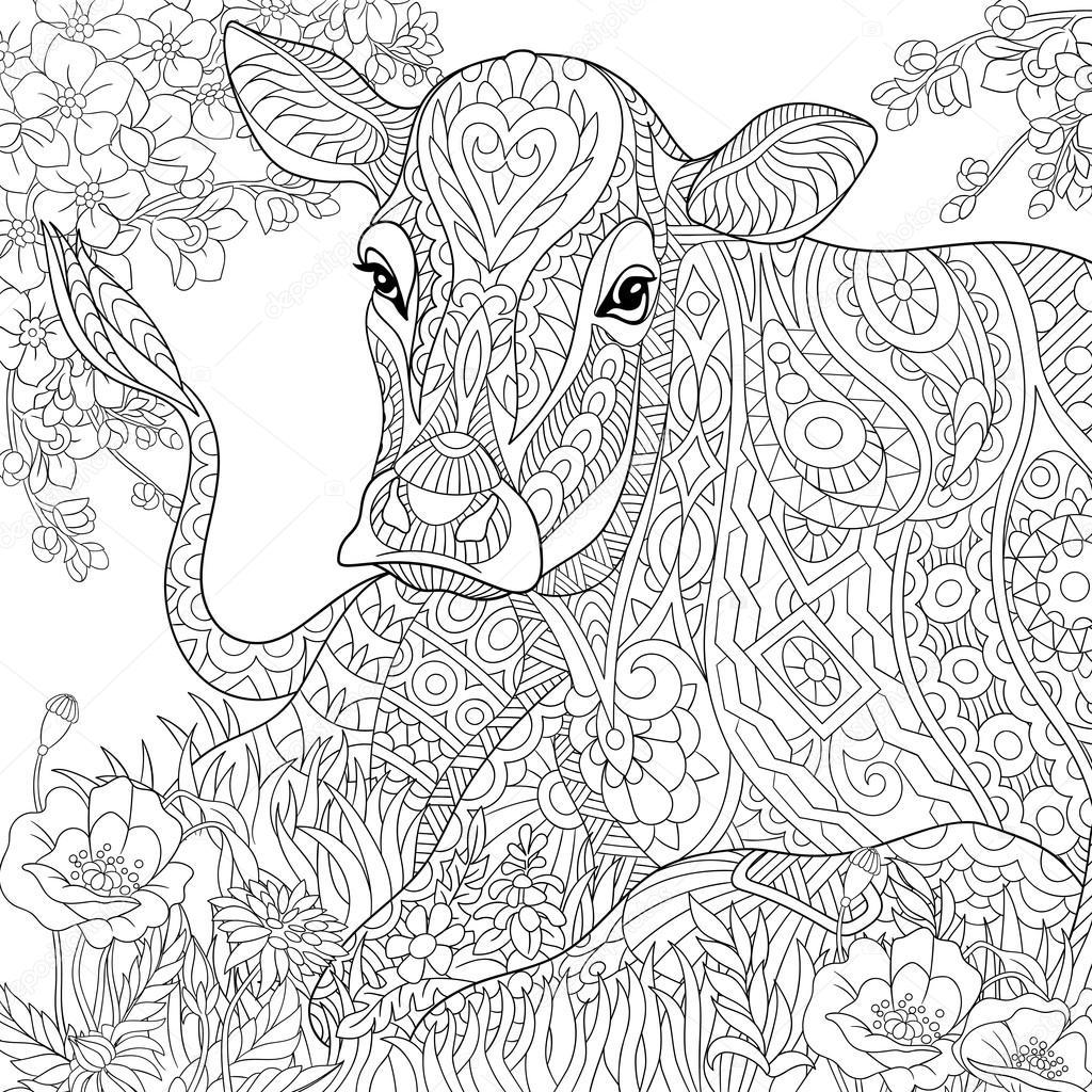 kleurplaat koe hoofd kidkleurplaat nl