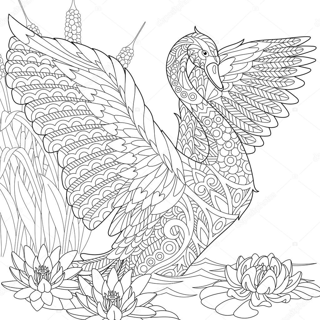 Картинка лебедь 94