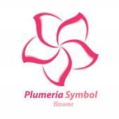 Fotografie Plumeria (frangipani) flower symbol