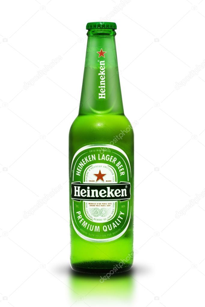 Thailand, Bangkok - July 3, Heineken Lager Beer is the flagship
