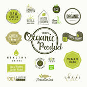 Fotografie Set of organic food labels and elements