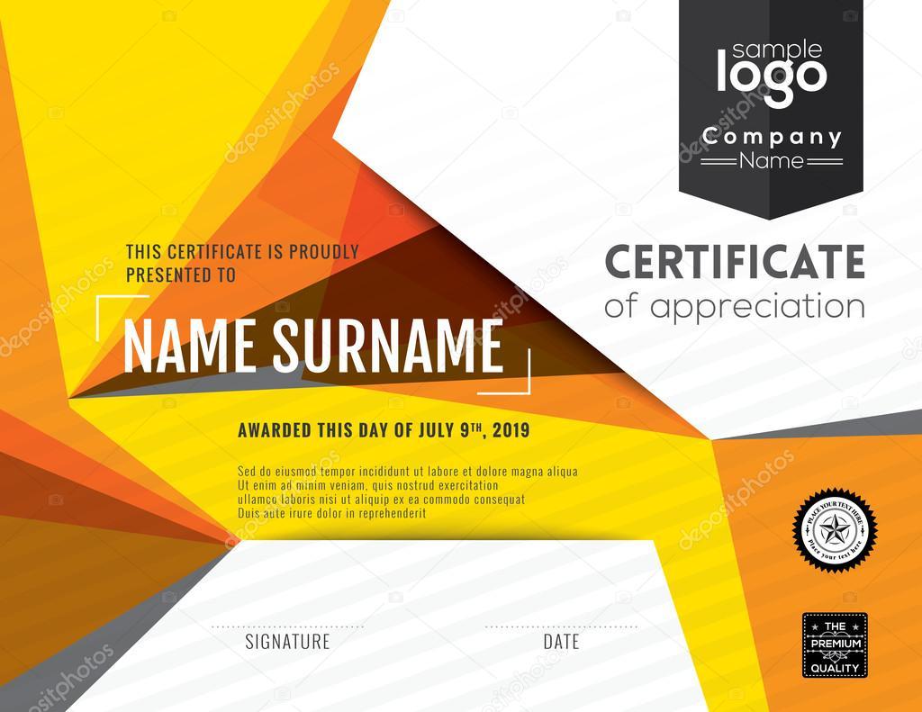 Moderne Zertifikatvorlage Hintergrund design — Stockvektor © kraphix ...