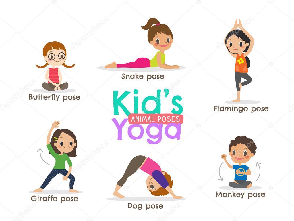 ᐈ Simple yoga stock drawings, Royalty Free kids yoga drawing
