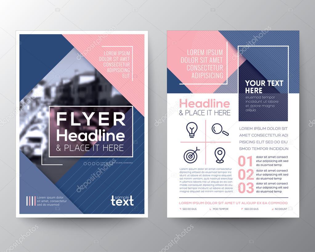 Vektor-Broschüre-Flyer-Design Layout-Vorlage — Stockvektor © kraphix ...