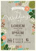 Ročník svatební pozvánky s roztomilý rozmachem pozadím