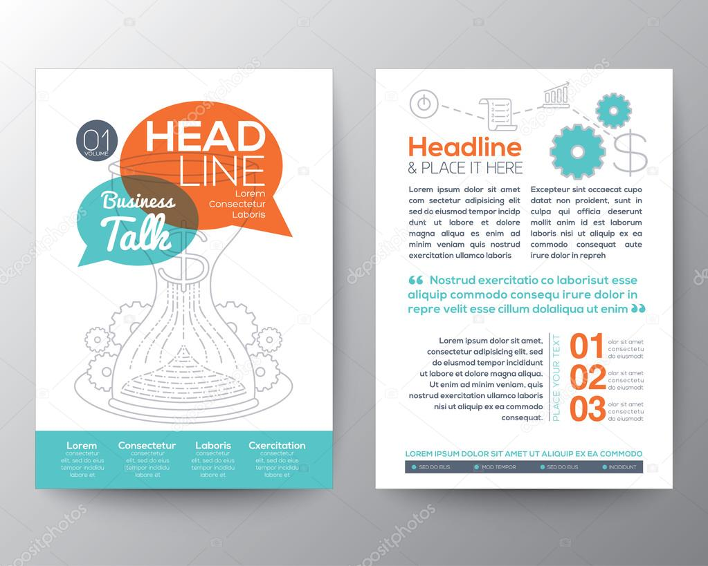 Brochure Flyer design Layout vector template with business conce