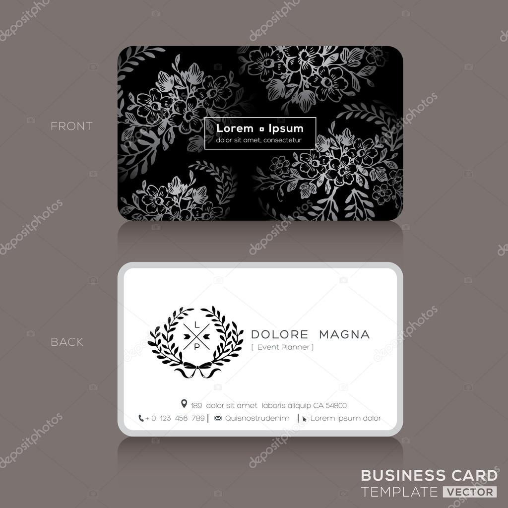 Design de cartes de visita floral vintage vetor de stock floral vintage elegant business cards design template vetor por kraphix reheart Choice Image