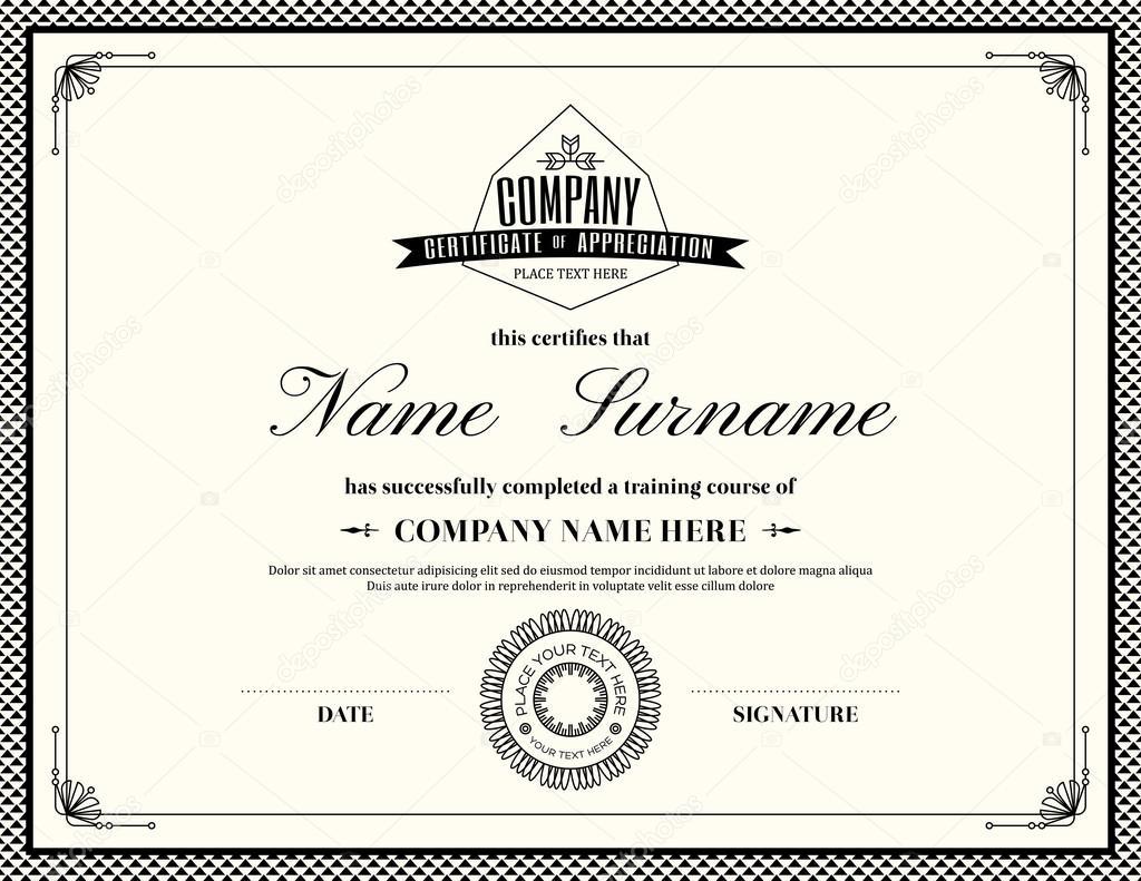 Retro frame certificate of appreciation template stock vector retro frame certificate of appreciation template stock vector 1betcityfo Image collections