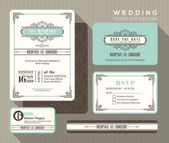 Fotografie Vintage wedding invitation set design Template