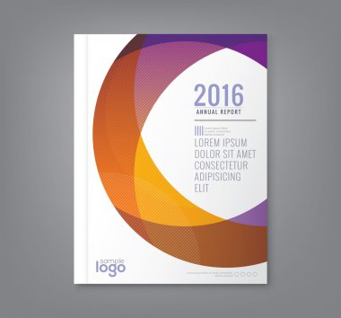 Abstract round circle shapes background for business annual report book cover brochure flyer poster