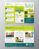 Fotografie Real Estate Broschüre Flyer Vektor Entwurfsvorlage in A4 Größe Tri fold