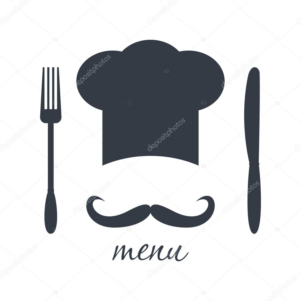 big chef hat with mustache vector illustration stock chef clip art free download chef hat clipart free