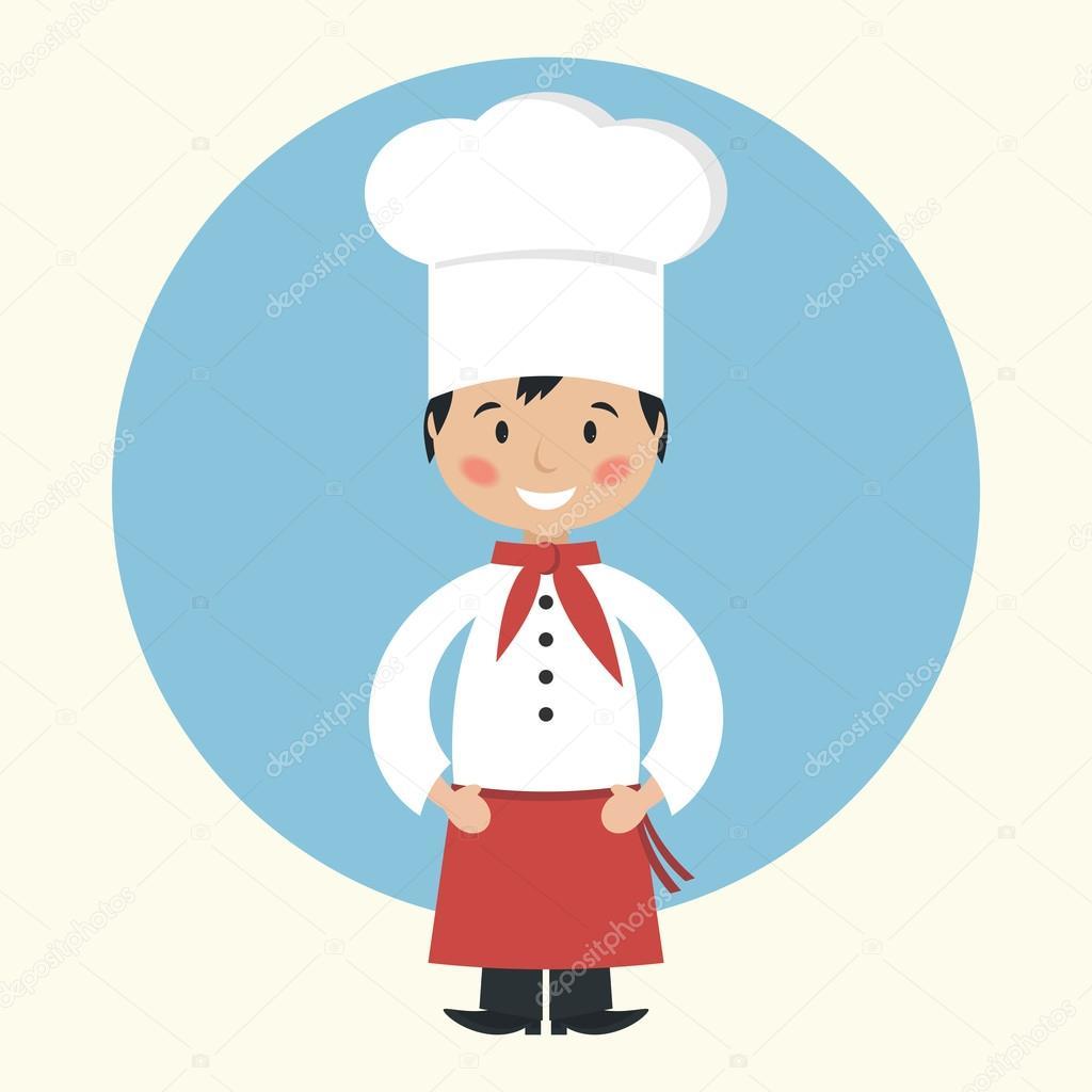 chef cocinero de dibujos animados divertidos vector de chef clipart for kids chef clipart png