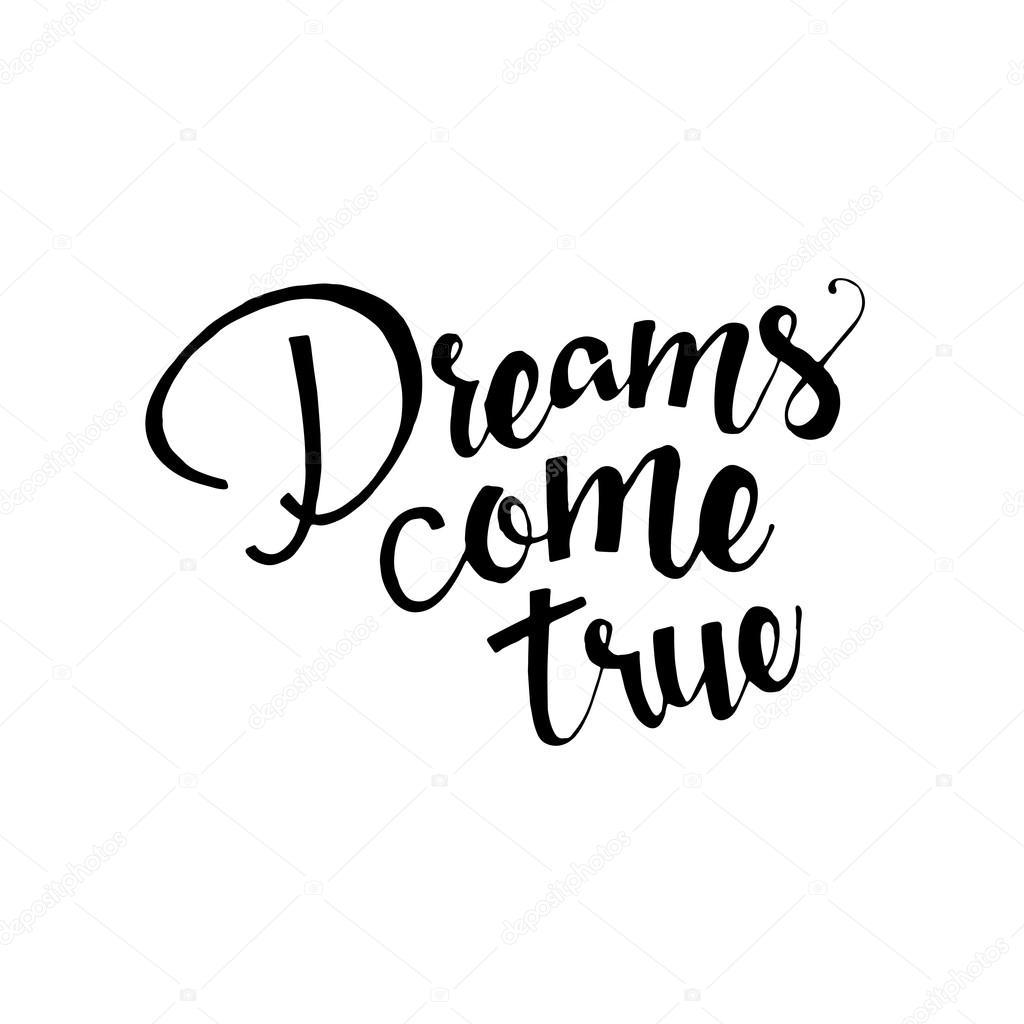 Dreams come true hand drawn lettering stock vector lawkeeper dreams come true hand drawn lettering stock vector altavistaventures Choice Image