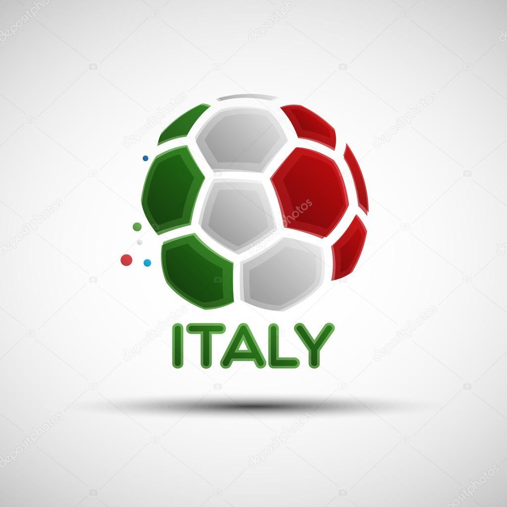 Bandera del Campeonato de fútbol. Bandera de Italia. Ilustración de vector  de pelota de fútbol abstractos con colores de la bandera nacional italiana  para ... 2fdaaa3249dd4