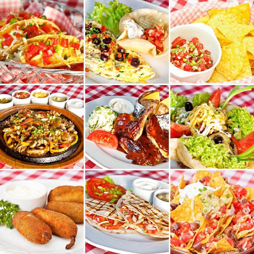 Collage de comida mexicana fotos de stock lawkeeper - Fotos de comodas ...