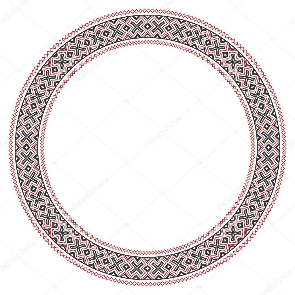 bordado ronda tradicional eslava — Archivo Imágenes Vectoriales ...